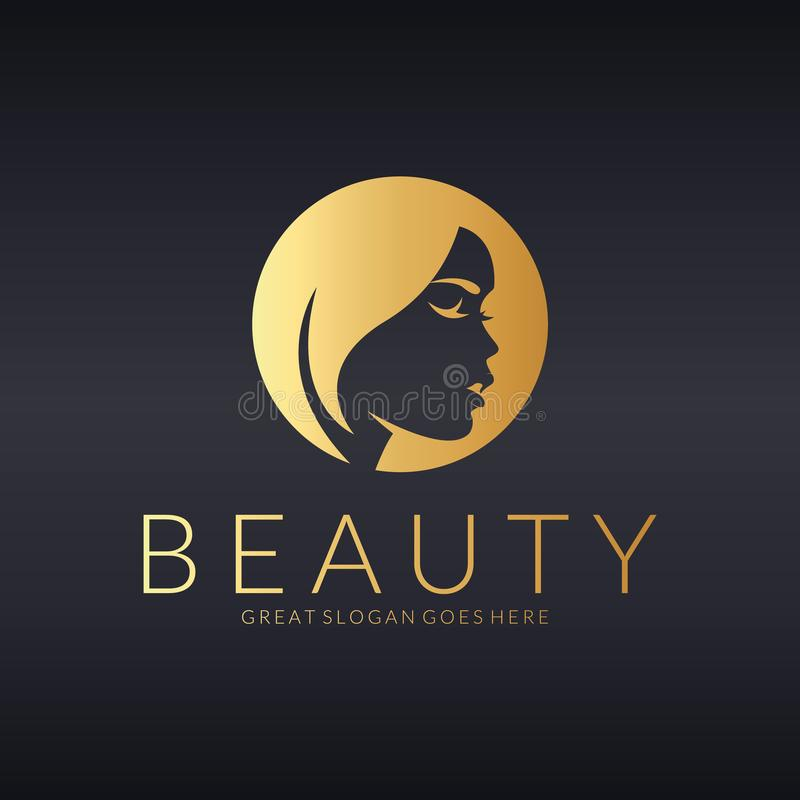 O castelo de Kalmar em Sweden Projeto do logotipo do vetor para o salão de beleza, cabeleireiro, cosmético ilustração do vetor