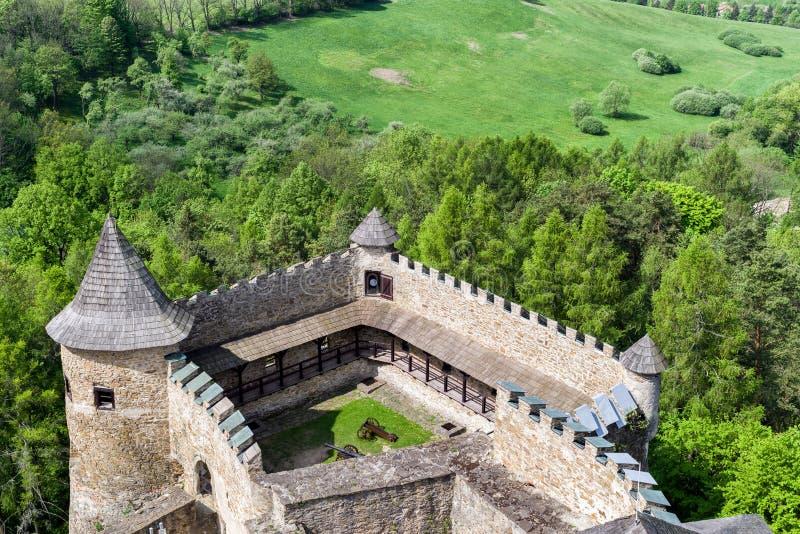 O castelo de Lubovna, Eslováquia fotos de stock