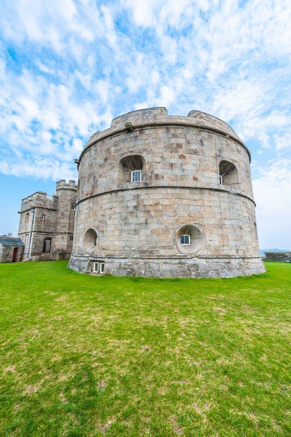 O castelo de Pendennis mantém-se imagens de stock