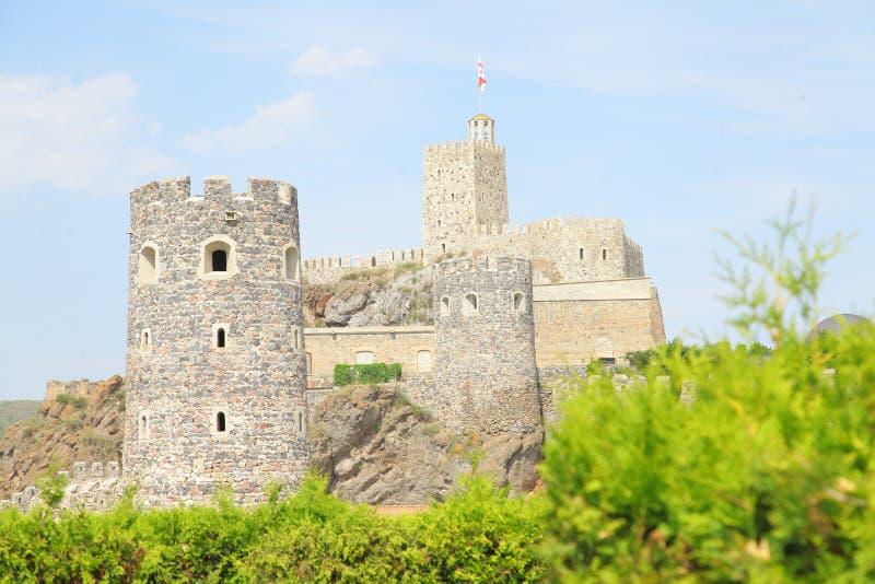 O castelo de Rabati ? uma fortaleza em Akhaltsikhe, Ge?rgia Castelo Guaram Mampal de Lomisa, filho do rei de Tao fotos de stock royalty free