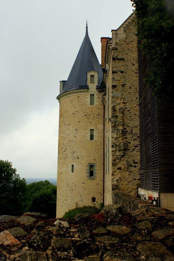 O castelo de Sainte Suzanne fotos de stock