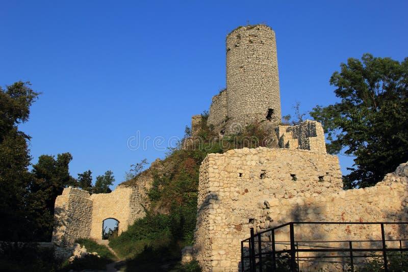 O castelo de Smolen arruina poland. fotos de stock royalty free
