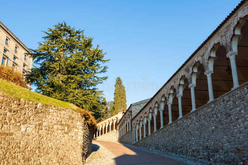 O castelo de Udine fotografia de stock