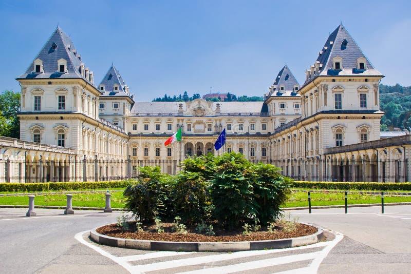 O castelo de Valentino, Turin fotos de stock