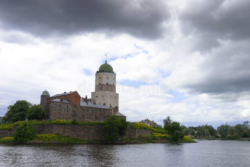O castelo de Vyborg fotografia de stock