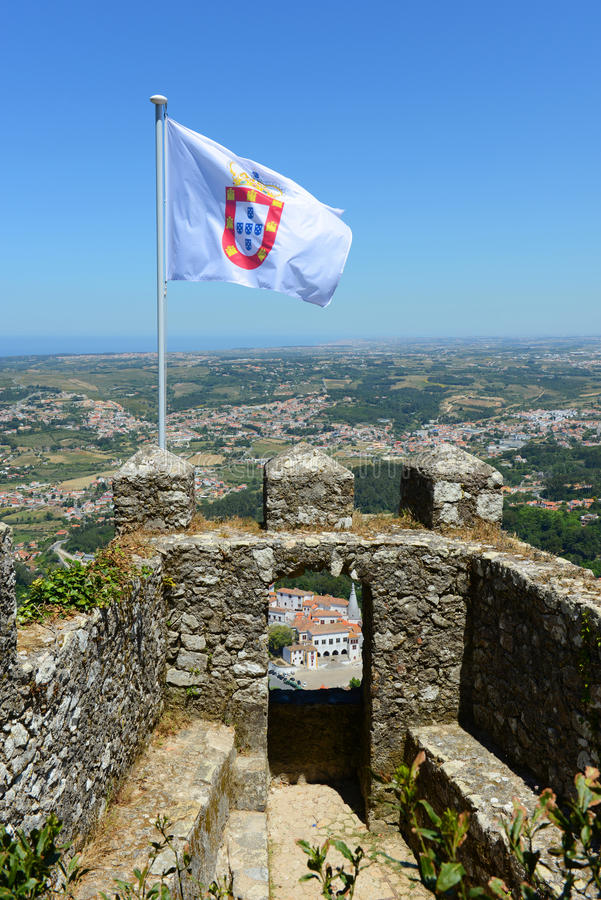 O castelo do amarra, Sintra, Portugal foto de stock royalty free