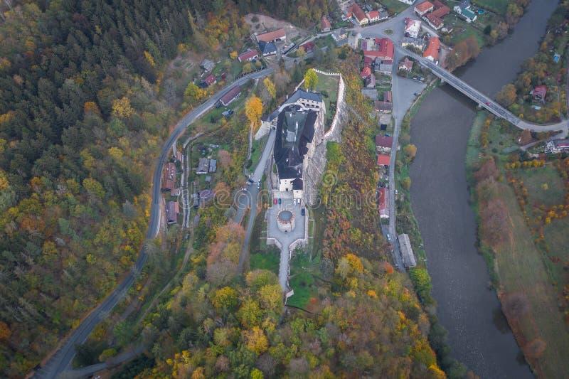 O castelo do ternberk do ½Å de ÄŒeskà é um castelo boêmio dos mediados do século[XIII imagem de stock royalty free