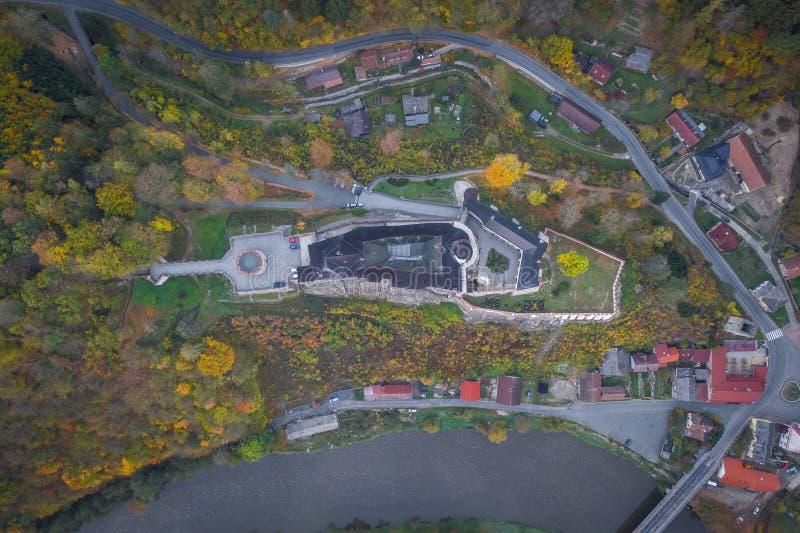 O castelo do ternberk do ½Å de ÄŒeskà é um castelo boêmio dos mediados do século[XIII imagens de stock