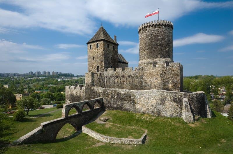 O castelo em Bedzin, Poland fotos de stock royalty free