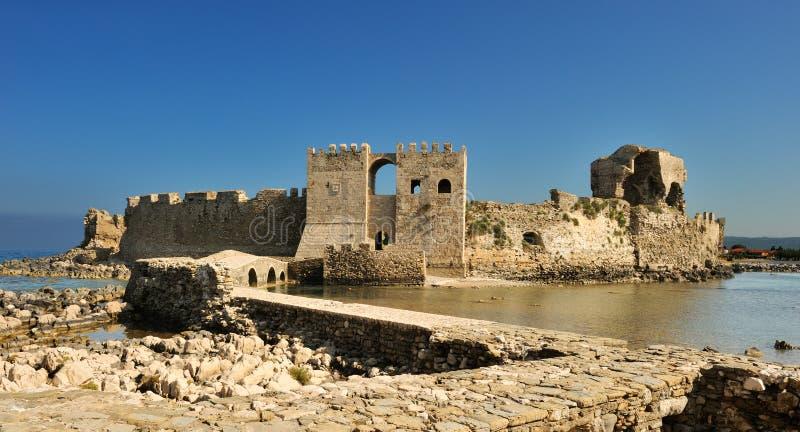 O castelo em Methoni imagem de stock royalty free