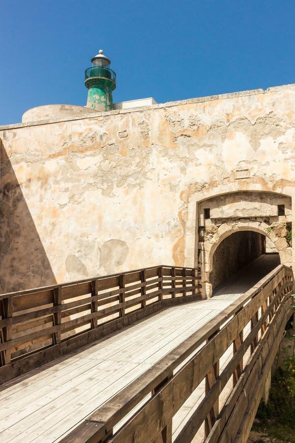 O castelo em Siracusa - Sicília fotos de stock