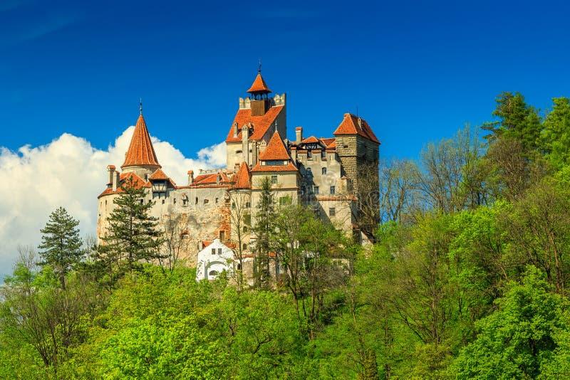 O castelo famoso de Dracula, farelo, a Transilvânia, Romênia foto de stock royalty free
