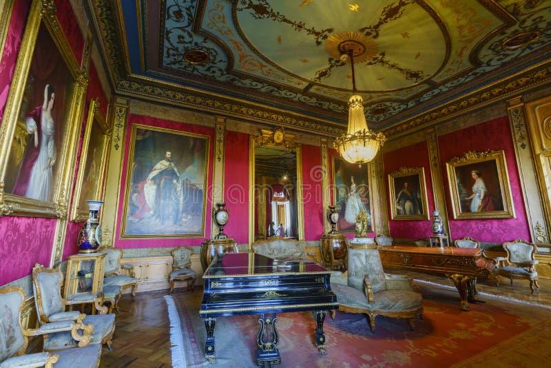 O castelo histórico - castelo de Chapultepec fotografia de stock royalty free