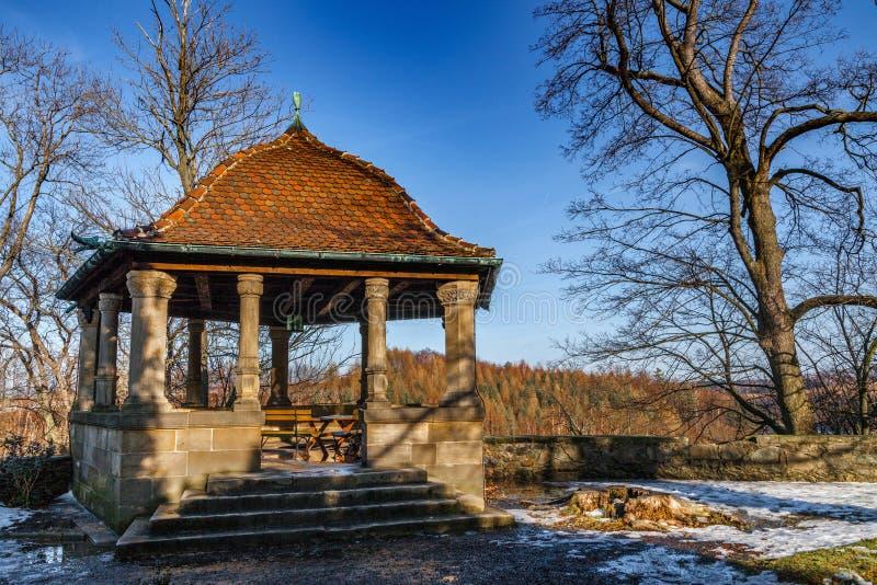 O castelo medieval Czocha situado na cidade de Sucha fotografia de stock