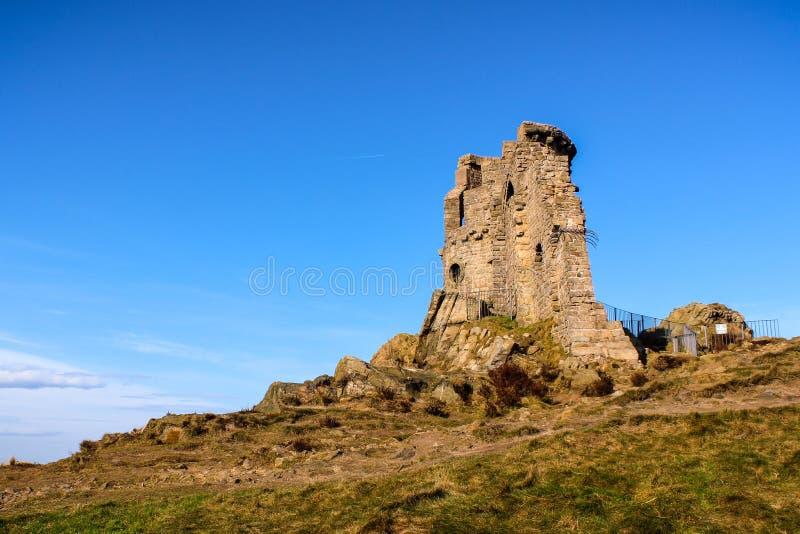 O castelo medieval da bobina Mow fotografia de stock royalty free