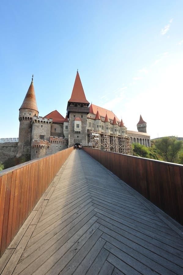 O castelo medieval de Hunedoara imagens de stock royalty free