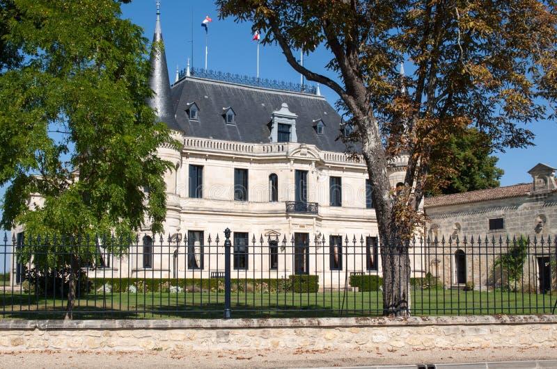 O castelo Palmer é uma adega Margaux contrÃ'lée do origine da denominação no d 'da região do Bordéus de França fotografia de stock royalty free