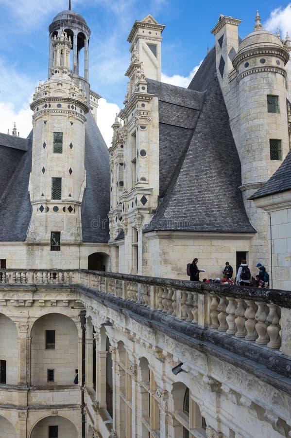 O Castelo real de Chambord fotografia de stock