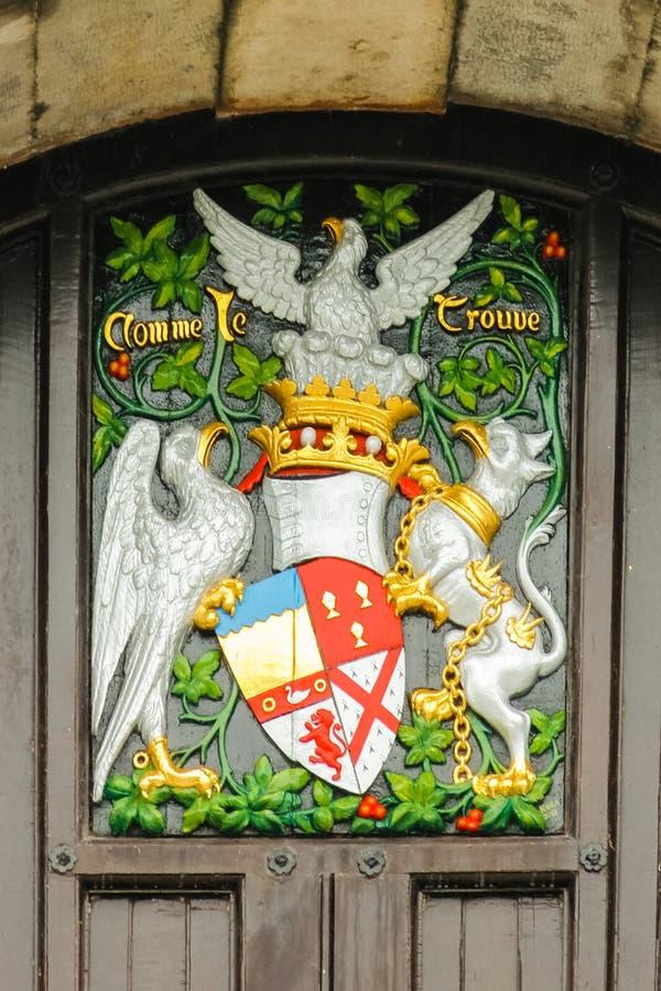 O castelo Revestimento de braços Kilkenny ireland fotos de stock