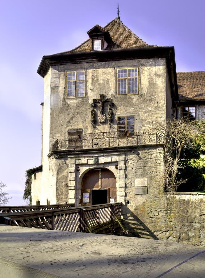 O castelo velho de Meersburg fotos de stock