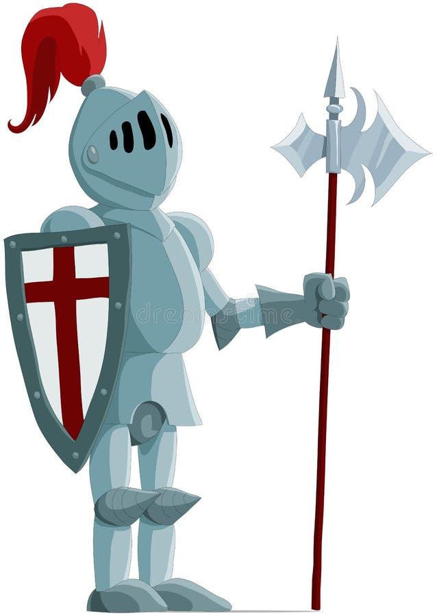 O cavaleiro ilustração royalty free
