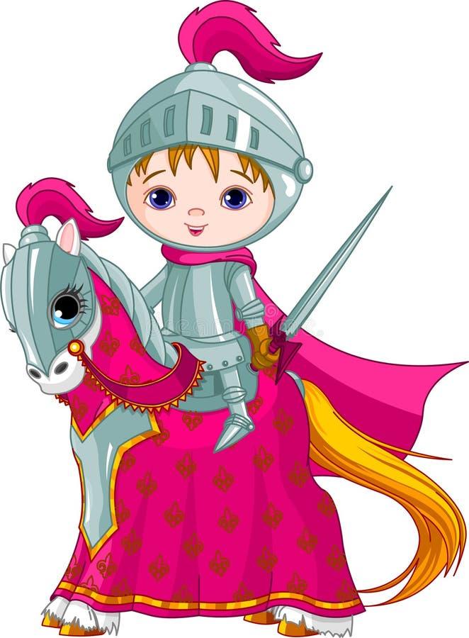 O cavaleiro bravo no cavalo ilustração royalty free