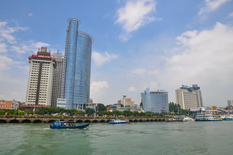 O cenário da cidade de Xiamen fotografia de stock royalty free