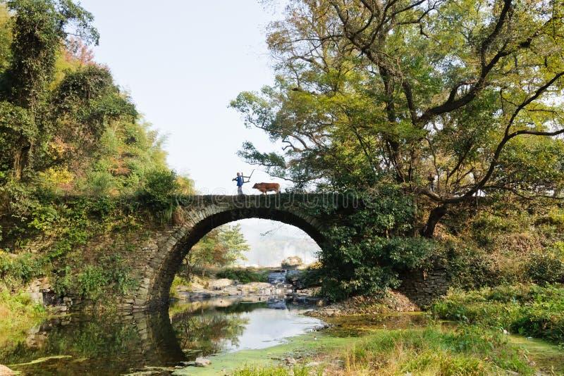 O cenário da vila na província de Anhui fotografia de stock royalty free