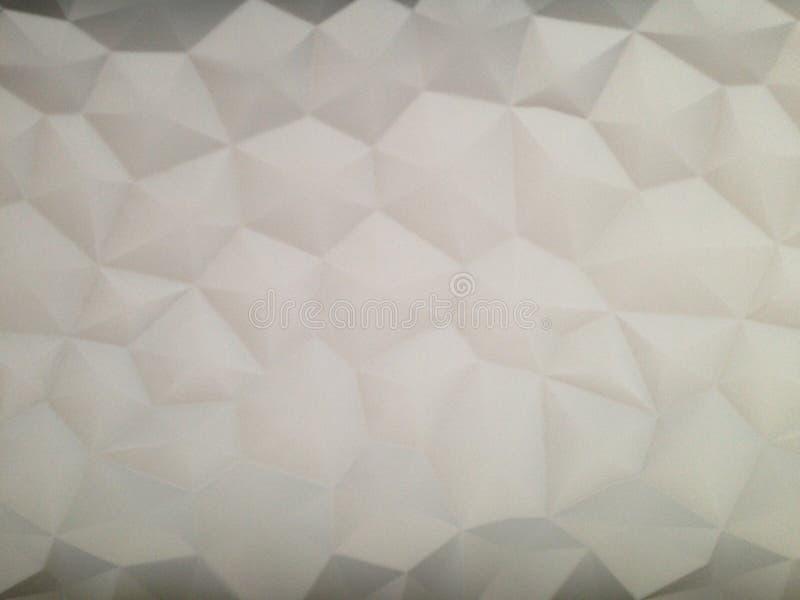 O cenário na parede sob a forma de um drywall de prisma foto de stock