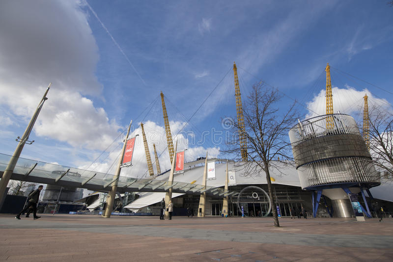 O2 center. Greenwich London Afternoon stock images