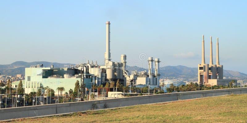 O central elétrica do ciclo combinado do ² s de Besà imagem de stock