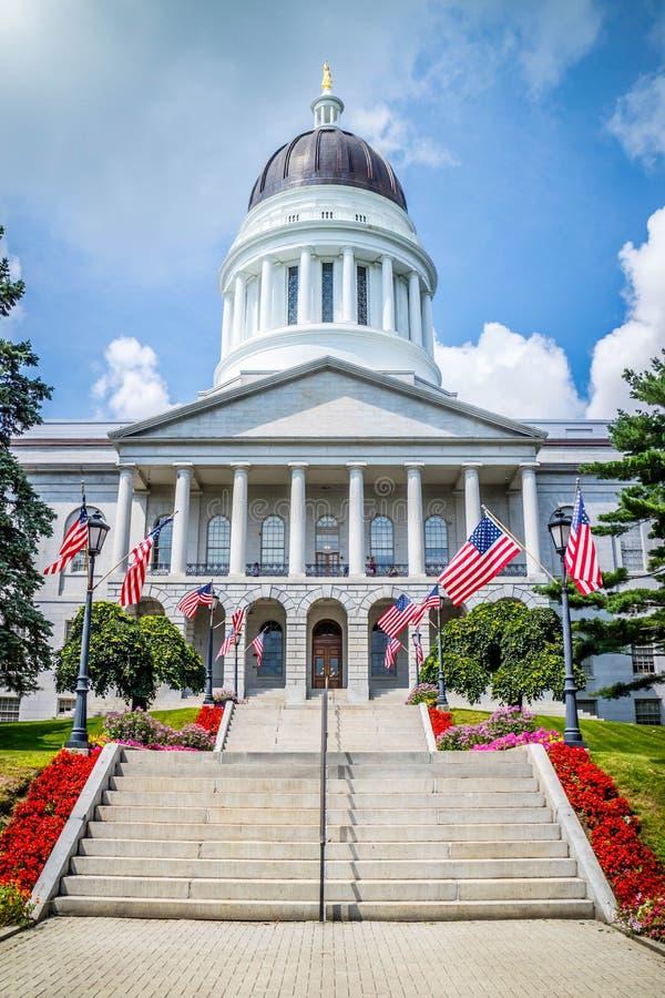 O centro da administra??o em Augusta State Capital, Maine imagem de stock royalty free