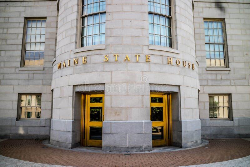 O centro da administra??o em Augusta State Capital, Maine foto de stock royalty free