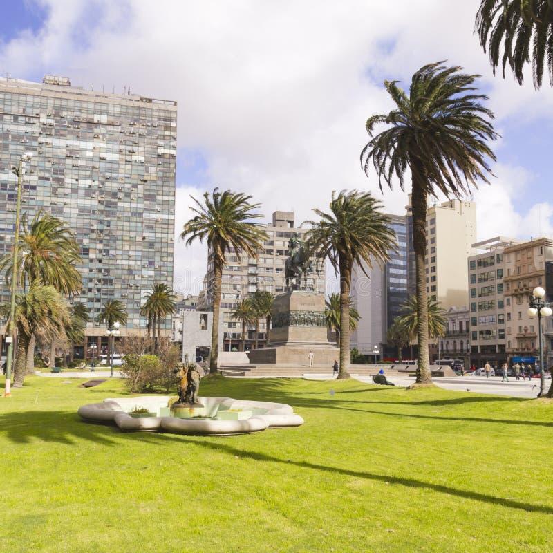 O centro da cidade de Montevideo, Uruguai fotos de stock