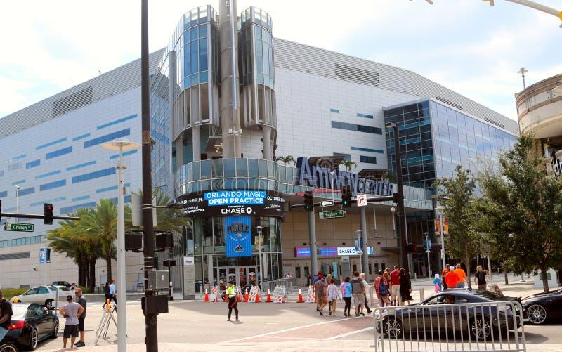 O centro de Amway, Orlando, Florida fotos de stock royalty free