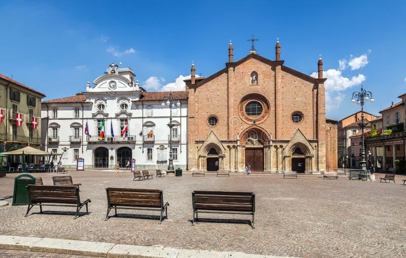 O centro de Asti Italy imagem de stock
