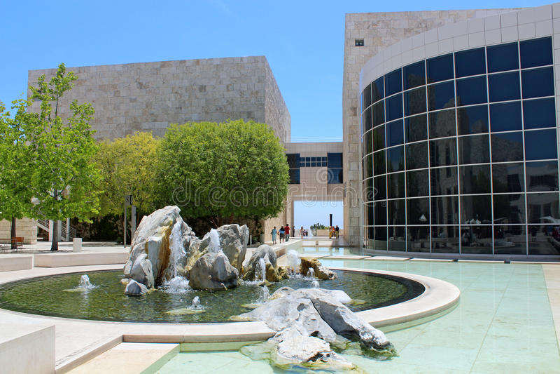 O centro de Getty - Los Angeles imagens de stock