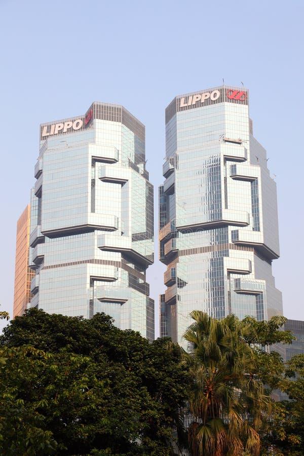O centro de Lippo em Hong Kong foto de stock