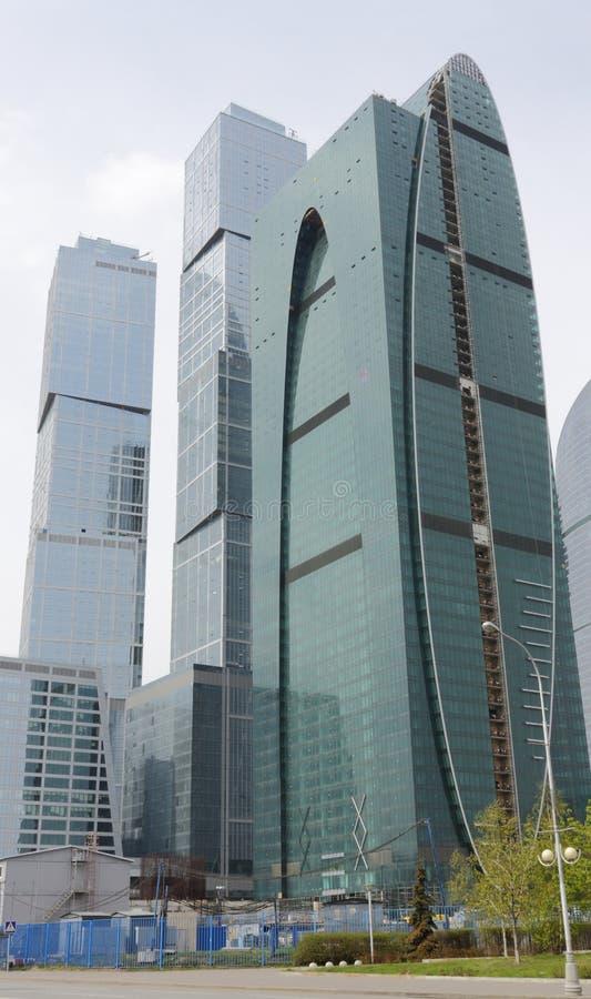 O centro de negócio internacional de Moscovo - cidade fotos de stock royalty free