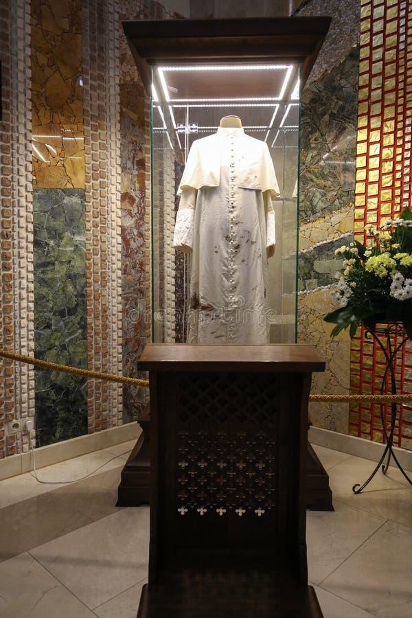 O centro do papa John Paul II Cracow, fotografia de stock