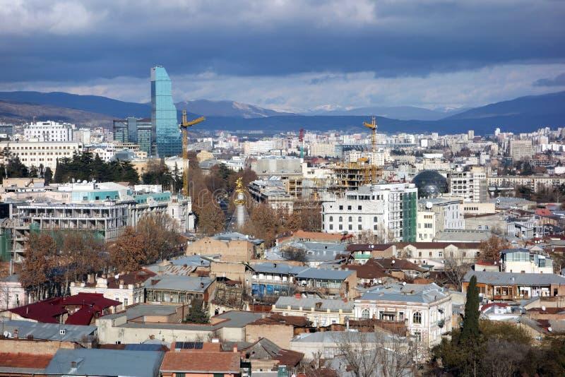 O centro histórico de Tbilisi País de Geórgia fotos de stock royalty free