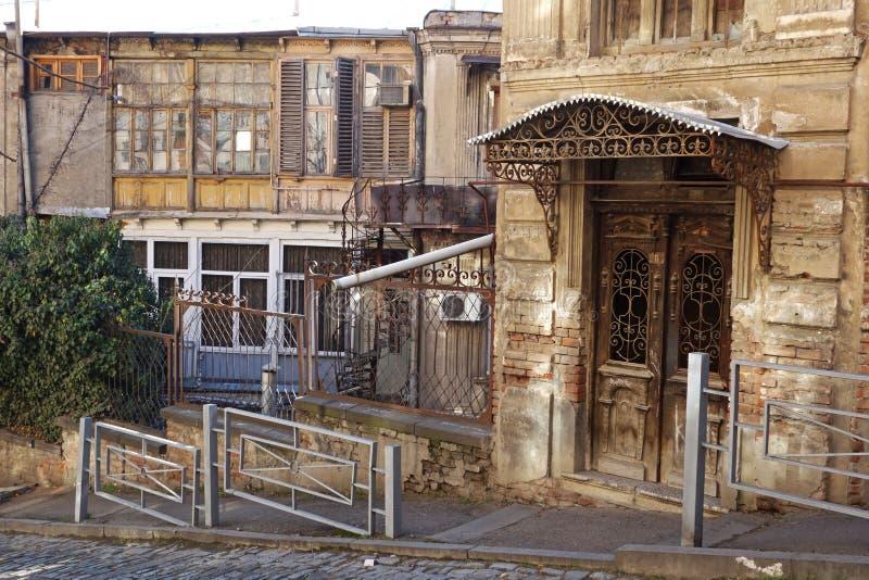 O centro histórico de Tbilisi País de Geórgia fotografia de stock royalty free