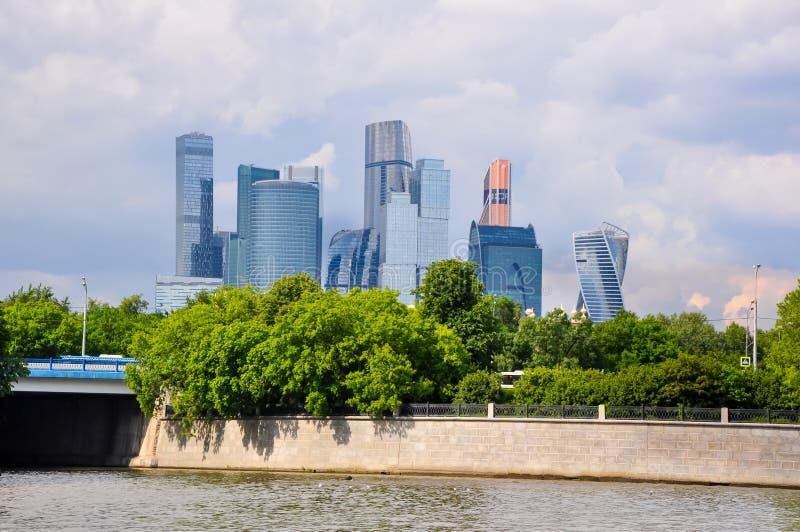 O Centro Internacional de Negócios de Moscou MIBC, também conhecido como 'Cidade de Moscou imagens de stock