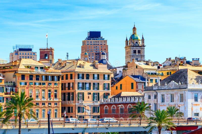 O centro medieval histórico de Genoa, Itália imagens de stock royalty free