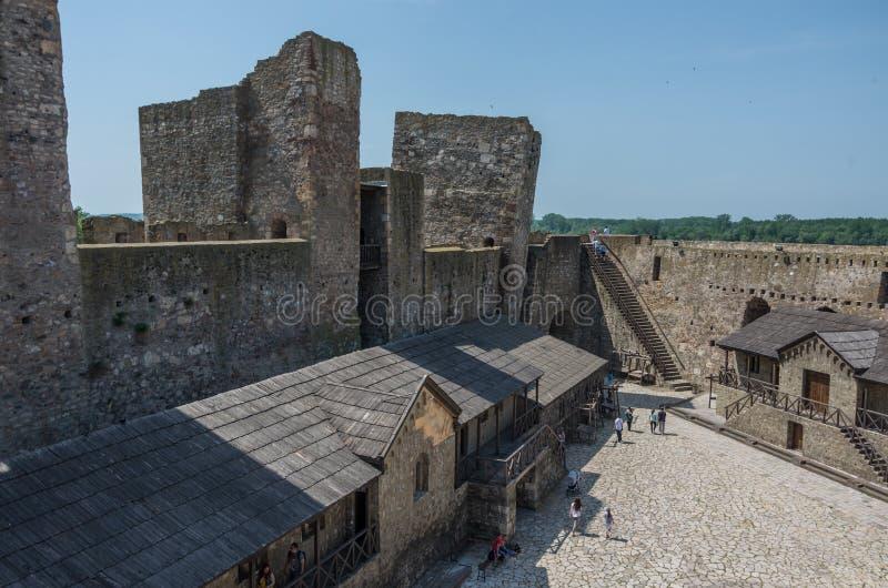 O centro urbano da fortaleza de Smederevo é uma cidade fortificada medieval mim fotos de stock royalty free