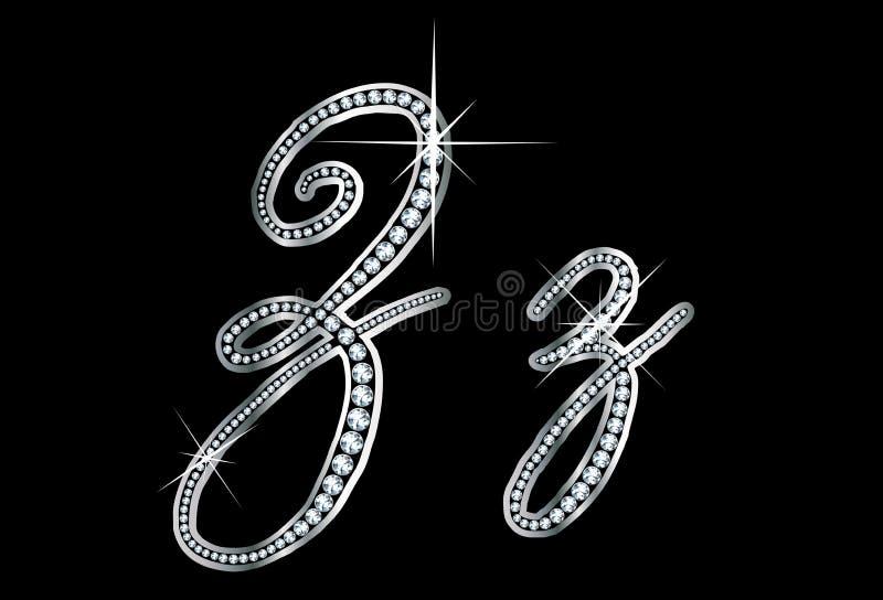 Download Letras De Bling Zz Do Diamante Do Certificado Ilustração do Vetor - Ilustração de prata, diamante: 29837543