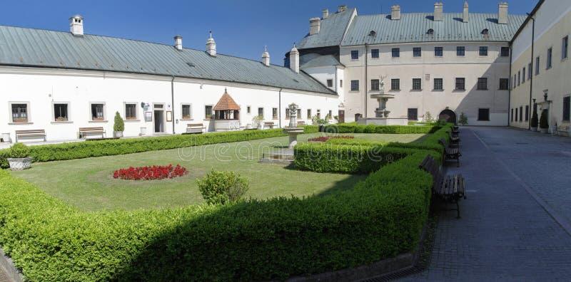 O Cerveny Kamen Castle, Eslováquia fotos de stock