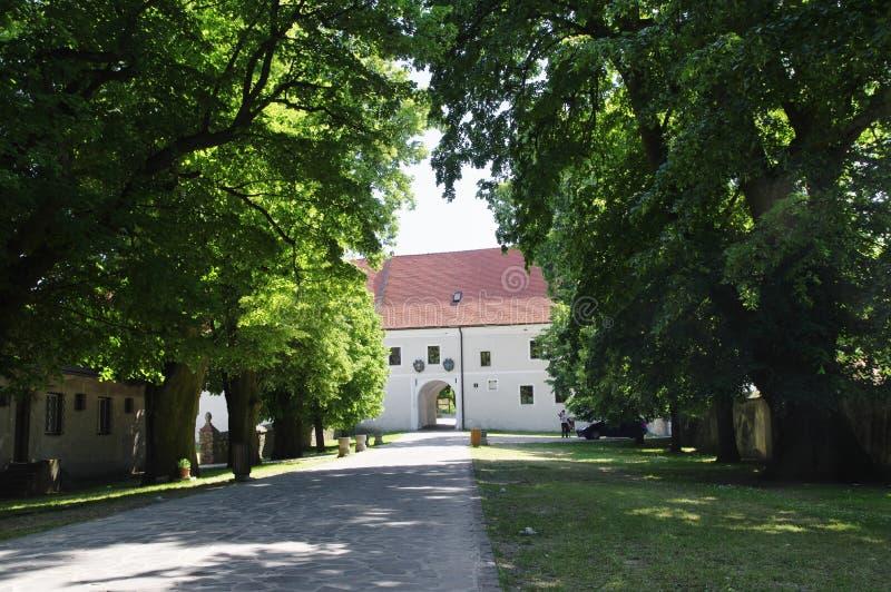 O Cerveny Kamen Castle, Eslováquia fotografia de stock royalty free