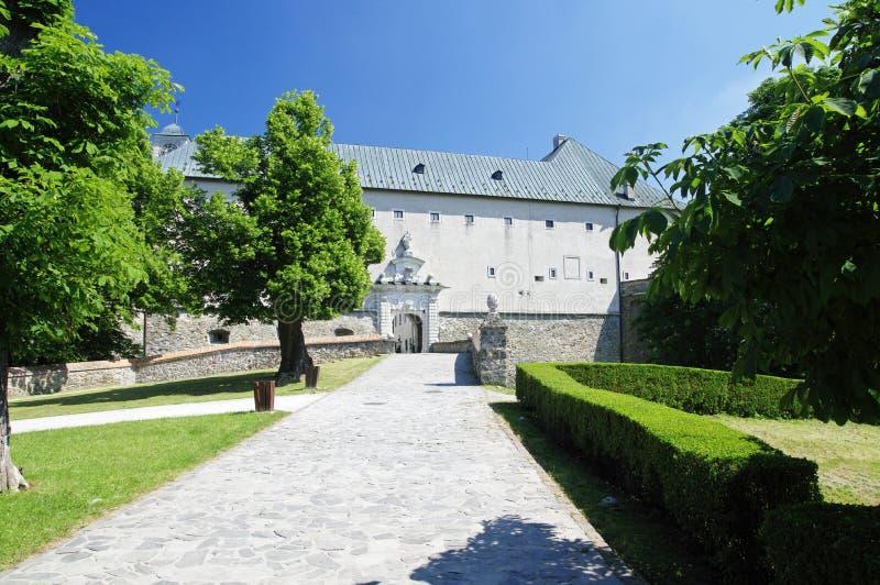 O Cerveny Kamen Castle, Eslováquia imagens de stock