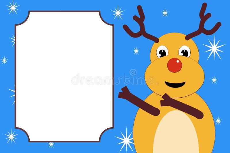 O cervo do Natal indica o lugar para o texto fotos de stock